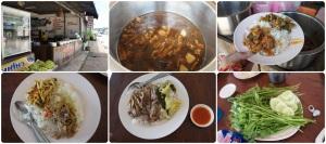 กินที่ร้านเงาะป่า มีข้าวแกงแบบนานาชาติ เช่นฮังเลพม่า หรือพะโล้เวียดนาม อร่อยดี ที่สำคัญ เขาให้ตักเอง!! เท่าไหร่ก็ได้จานละ 30 บาท