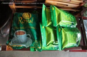 อันนี้ของแนะนำ Royal myanmar teamix ถ้าซื้อที่ย่างกุ้ง 120 ที่สนามบินมัณฑะเลย์ 200 ที่นี่ขาย 120 เท่าย่างกุ้ง (ต่อได้) ใครไปอยากให้ลองดูครับ อร่อยมาก ประมาณถ้าเวียดนามมีกาแฟ พม่าก็มีชานี่หล่ะ