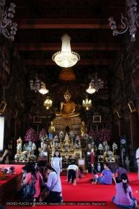 พระประธาน พระพุทธธรรมมิศรราชโลกธาตุดิลก ร.2 ปั้นเองกับมือ