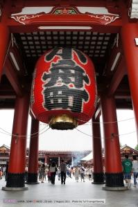 โคมฉลอง 400ปีเอโดะอันเป็นสัญลักษณ์ของวัดไปแล้ว