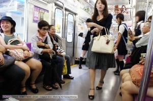 ไกด์จะพาขึ้นรถไฟเที่ยวนึงก่อน โดยหากใครไม่มีที่ไปไกด์จะพาไปขึ้นชินคันเซนผ่ากลางเมือง