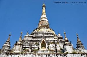 เจดีย์วัดม่อนจำศีล อันนี้แหล่ะมั้งทรงพม่า