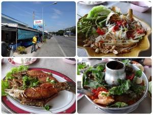 วันที่ 16/12/13 ไปลองร้านแถวอ่างศิลาร้านคุณเล็ก สั่งไป 4 อย่าง ส้มตำปูม้า - เผ็ด กินไม่ได้ ต้มยำทะเล (250) - ไม่เผ็ด แต่ไม่อร่อย ปลากะพงทอดน้ำปลา (380) - อร่อยดี ยำไข่แมงดา - อร่อย เผ็ดไปนิด (แต่ไม่ถึงส้มตำ) ข้าวโถนึง น้ำเปล่าขวดใหญ่ 1 ขวด รวมราคา 985 บาท