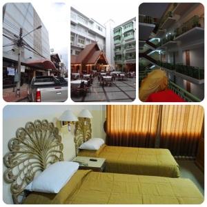 พักที่โรงแรมเทวราชคืนละ 700 ไม่เอาอาหารเช้าเหลือ 600 โรงแรมใหญ่ แต่เก่า ตั้งอยู่กลางเมืองเดินเที่ยวสะดวก