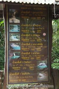 น้ำตกชั้นต่างๆ มีสูงสุด 7 ชั้น ระยะทางประมาณ 1,500 เมตร